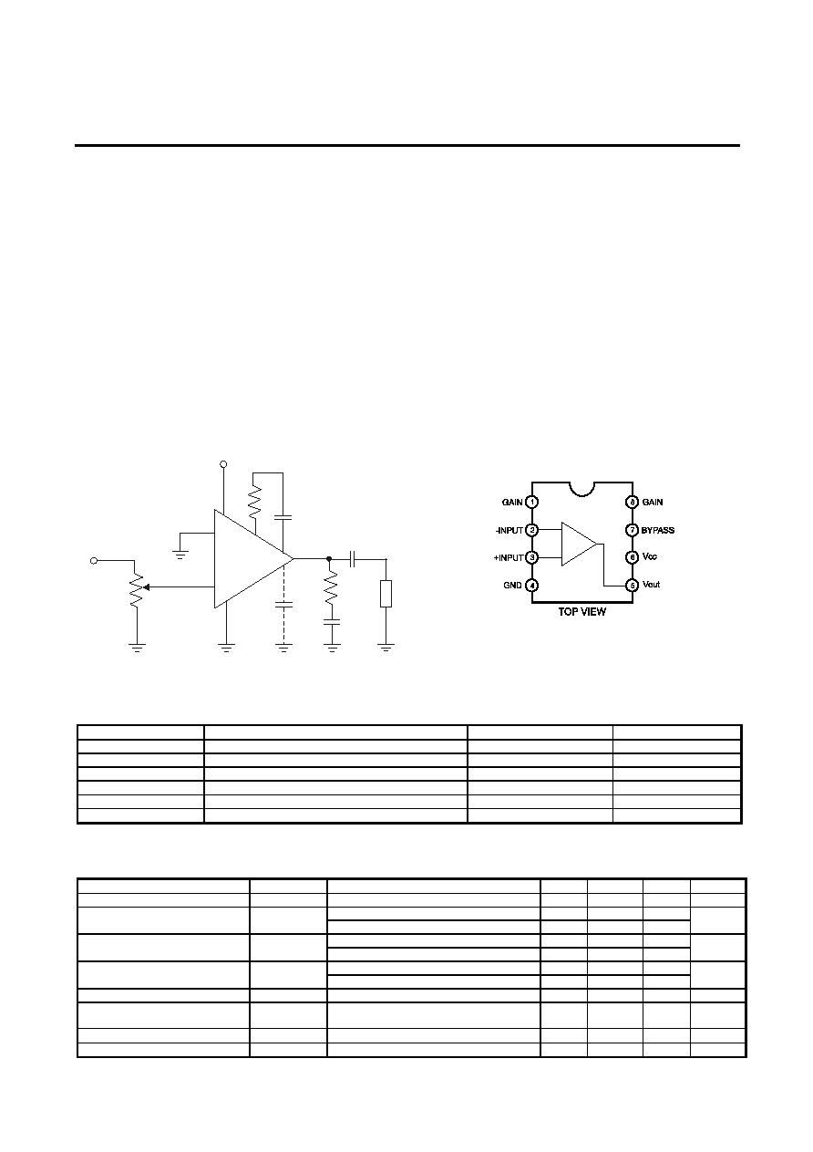 Mik386 Mikron Low Voltage Audio Power Amplifier Htmldatasheet Lm386 Replacement Of