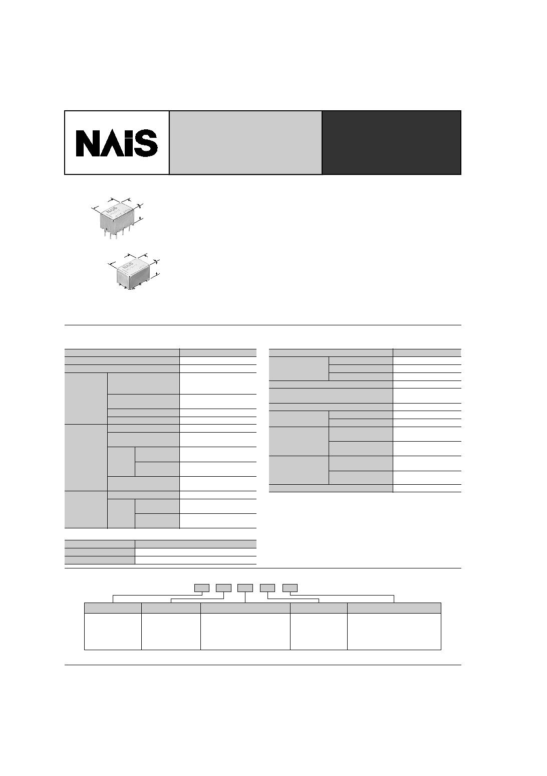 Arj20a4h Nais Smd Relays With 8ghz Capabilities Htmldatasheet 12 Volt Relay Document Outline