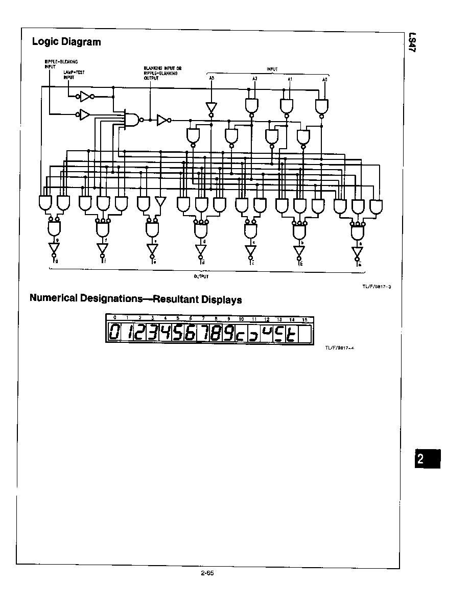 Dm74ls47n National Semiconductor Bcd To 7 Segment Logic Diagram For Decoder 2019 Icsheet