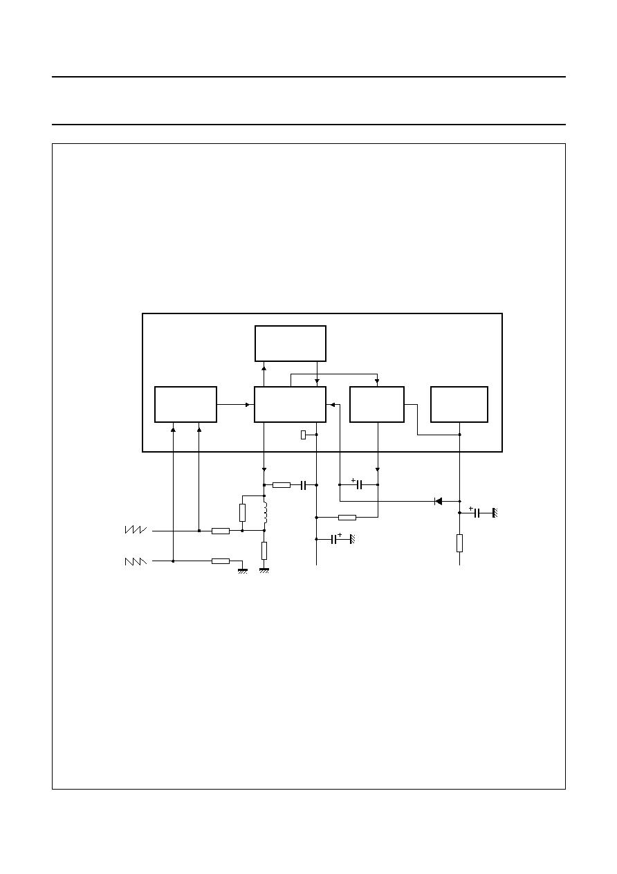 TDA4863AJ DBS-7P Philips Vertical deflection booster