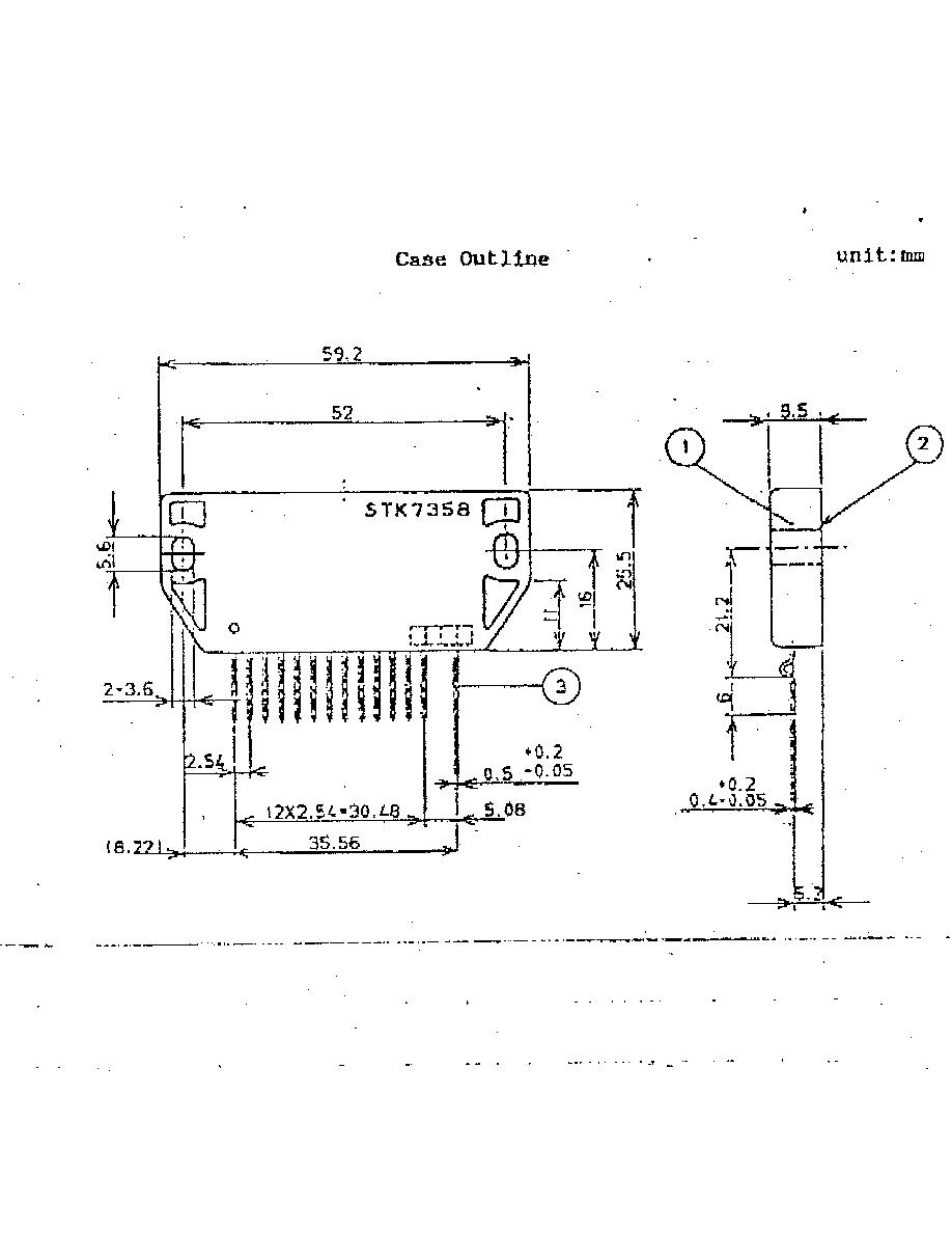 Circuito integrado STK7358 SANYO Orig