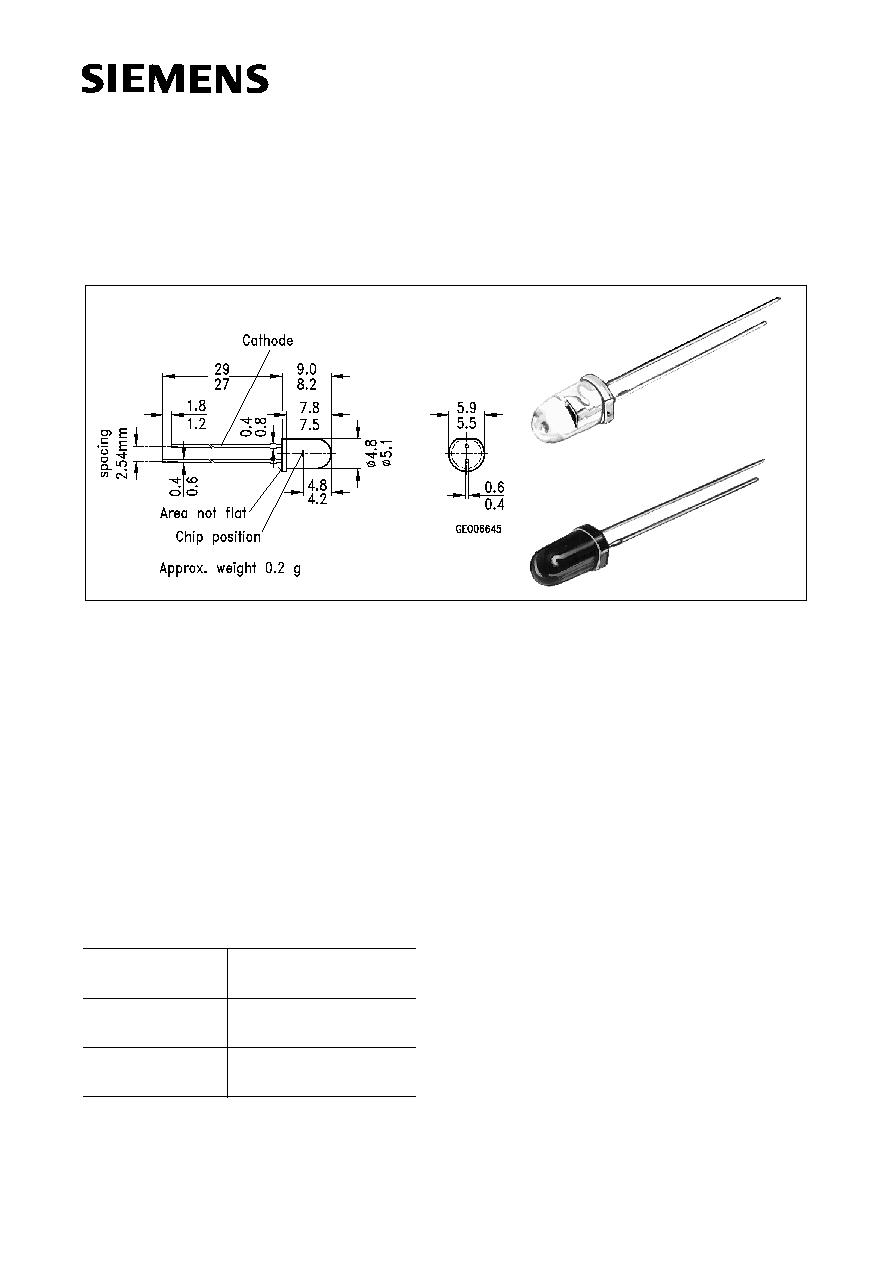 SFH203FA (Siemens) - Silizium-PIN-Fotodiode mit sehr kurzer