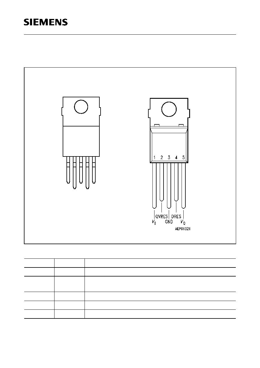 5 V 2/% low-drop Voltage Régulateur pzip 5//to220-5 Automotive Siemens Tle4260-2