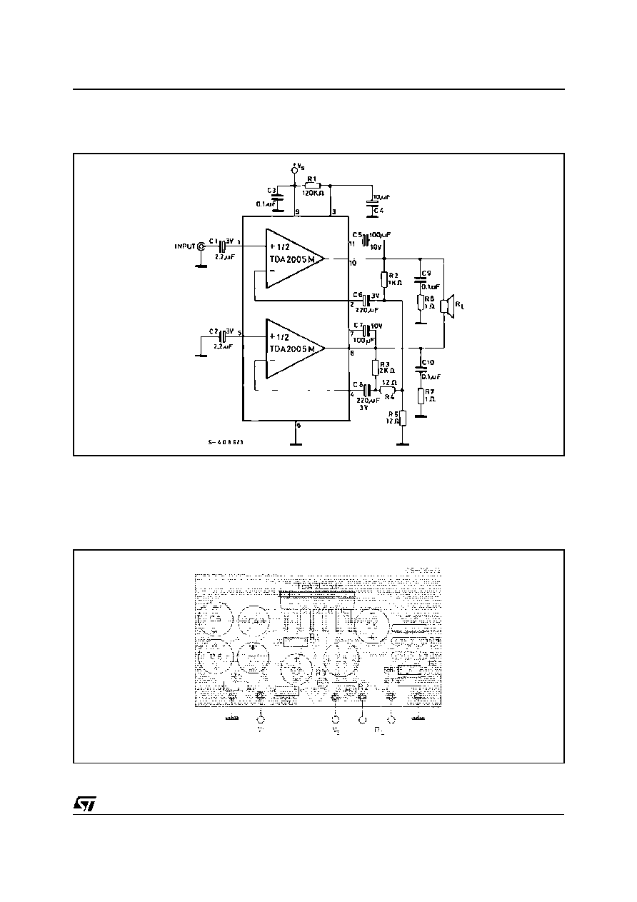 Tda2005 Stmicroelectronics 20w Bridge Amplifier For Car Radio Stereo Audio Circuit Schematic Design Figure 1 Test And Application