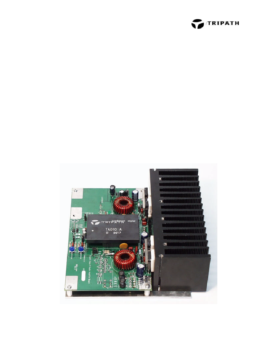 Eb Ta0102 Tripath Class T Digital Audio Amplifier Evaluation Amplifiers From A To 0101 Rev 33 1